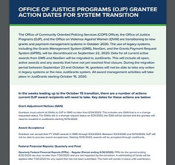 GMS TRANSITIONS TO JUSTGRANTS! DEADLINES AND GUIDANCE