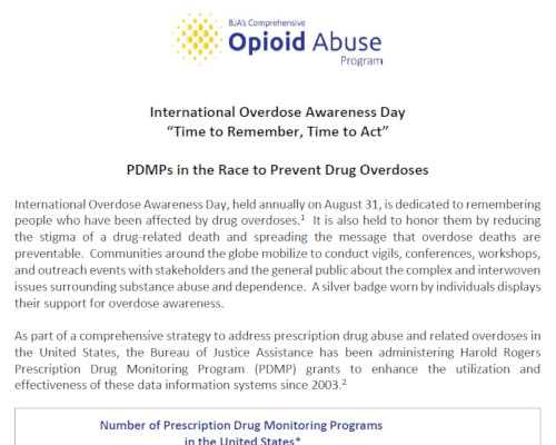 International Overdose Awareness Day:  PDMPs in the Race to Prevent Drug Overdoses (thumbnail)